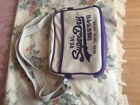 White and purple Superdry Bag