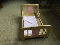 Dolls cot bed - John Lewis make