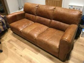 Brown Leather Sofa - Great Condition