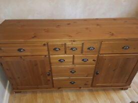 IKEA Antique pine Leksvik sideboard