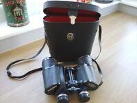Binoculars including case