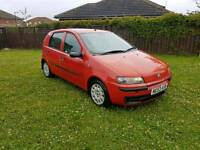 2003 FIAT PUNTO IN RED 5 DOORS LITTLE FAMILY CAR JUST TAKEN IN PART EX LONG M.O.T,