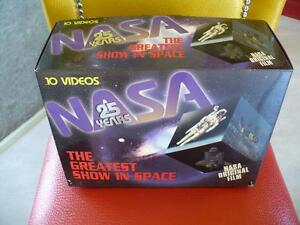 NASA 25 YEARS 9 (10 FILMS VHS in english )