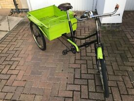 Rare vintage cargo tricycle, works perfectly