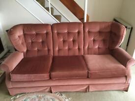 Very nice vintage Rose pink sofa