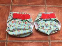 Nappy wraps (for cloth nappies) 'Tots bots' x2