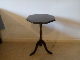 Antique Victorian Mahogany Side Occasional Lamp Tripod Table