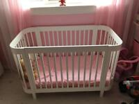 White oval cot