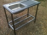 Stainless steel catering sink