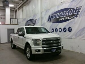 2015 Ford F-150 Platinum W/ Leather, Remote Start, Ecoboost