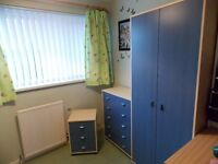 Child's bedroom furniture, wardrobe, 2 chest of drawers