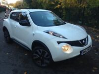 Nissan Juke 1.6 16v N-TEC 5dr - White - Excellent Condition - Low Milage - FREE WARRANTY