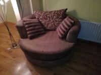 Large DFS swivel chair (cuddle chair)