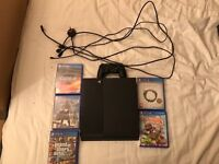 500gb PlayStation 4 with 5 games