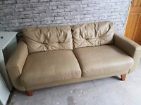 2/3 seater leather settee