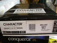 1 Ream of Character (high quality) A4 laid brilliant white 100g paper