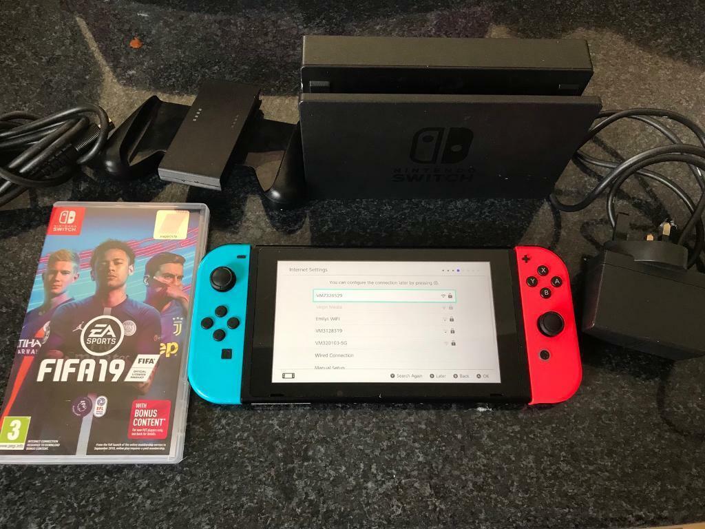 Nintendo Switch Console with Fifa 19 | in Rainham, Kent | Gumtree