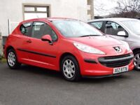2009 peugeot 207 1.4 petrol urabn with only 65000 miles, motd june 2018