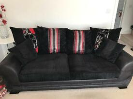 X2 Three seater sofas Red & Black