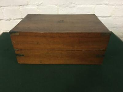 Antique Military Style Writing Slope with complete Brass work