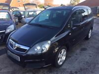 2007/07 VAUXHALL ZAFIRA 1.6i 16V ENERGY MPV 5 DOOR,BLACK,7 SEATER FAMILY CAR,IN GREAT CONDITION