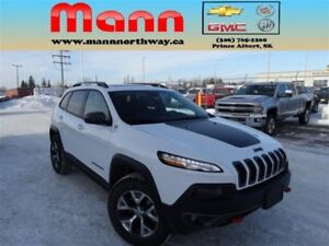 2016 Jeep Cherokee Trailhawk | 4x4, Leather, Sunroof, Heated Whe