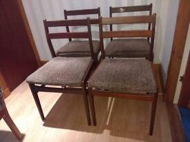 Vintage 4 x Meredew Dining Chairs - MCM Mid Century Modern Retro
