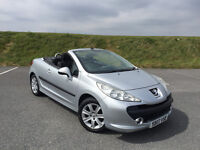 VERY LOW MILEAGE 2007 PEUGEOT 207 CC 1.6 SPORT NEW MOT AND FULL SERVICE HISTORY! LOVELY CONVERTIBLE!