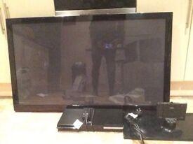 "Samsung 50"" Flatscreen TV and DVD player"