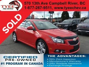 2014 Chevrolet Cruze LT RS Package Leather Seats Sunroof