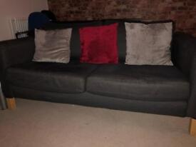 IKEA double sofa for sale with pillows