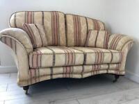 Duresta 3 + 2 + 1 sofa chair and footstool