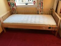 Ikea Toddler Bed with Mattress and guard rail