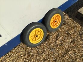 Boat launching trolley wheels pair secondhand