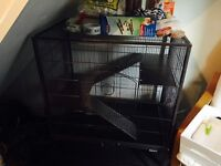 Brand new very large cage and accessories for small animal paid 150 for cage not been used