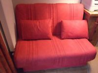Red Sofa Bed - metal frame