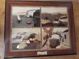 Italian wood photo album /plaque
