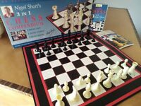 Chess Board, with VHS and Book