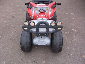 Ride on Childs electric quadbike.