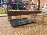 Medium 2 Door Dog Crate Black