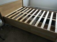 Double bed frame (no mattress) free to collect