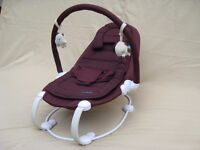 Baba Bing LoBo Baby bouncer chair in lovely Plum colour. BabaBing