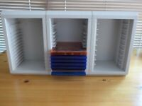 3 CD/Cassette Tape Storage Units