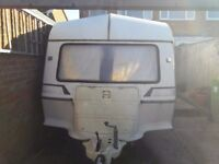 4 Birth caravan and awning £350.... RELISTED due to time waster!