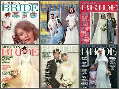 Modern Bride 1976 magazine collection - scanned - 6 issues