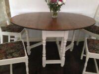 Gateleg table 4 chairs