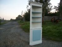 Vintage Painted Shabby Chic Corner Cupboard Shelves Adjustable Shelves COLLECTION EAST HOATHLY