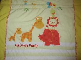 Cot / Travel Cot Quilt & two sheets