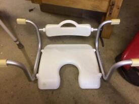 Disabled bath support seat