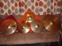Full Set of Quality Used Cymbals for Drum Kit